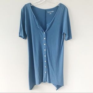 Soft Surroundings | Button Front Tunic Top XS